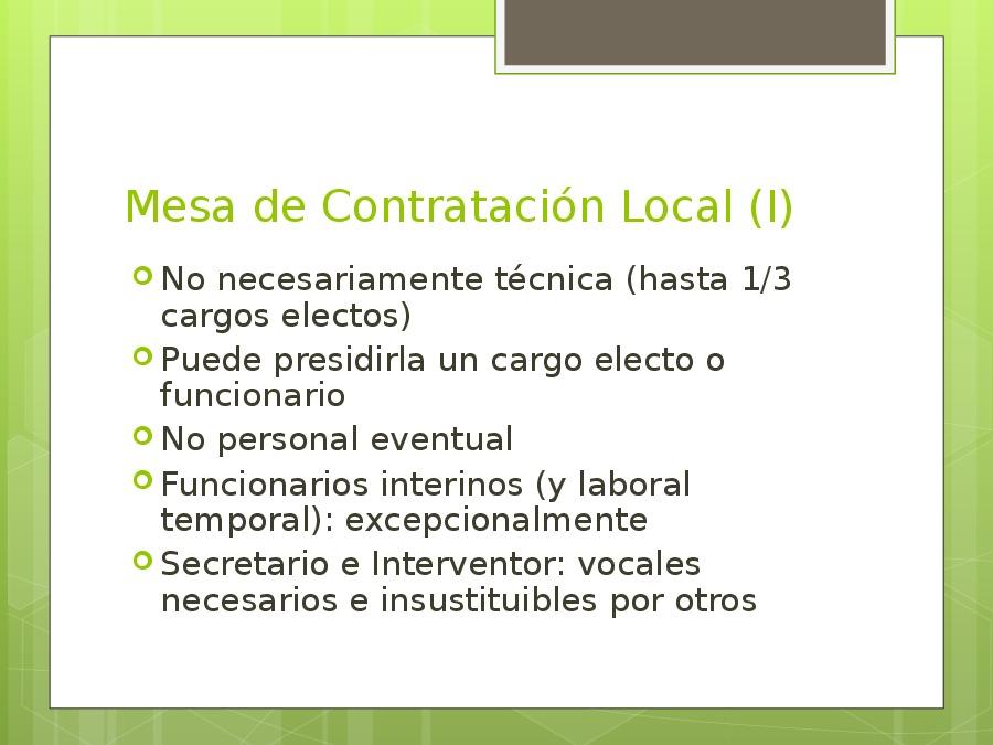 Disposicións específicas no ámbito local